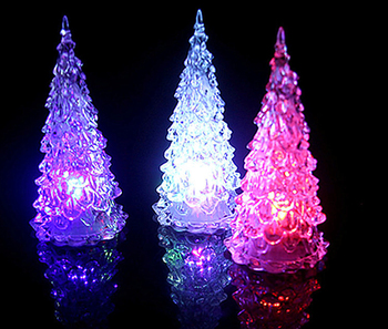 manufacturers creative brilliant led mini crystal christmas tree simulation desktop luminous acrylic tree flash christmas