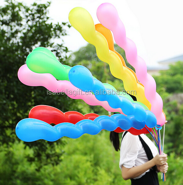 9.5inch long screw balloons, Christmas latex balloons for birthday party decorations
