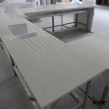 quartz solid surface one piece kitchen countertop with sink - buy