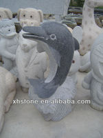 outdoor dolphin statue carvigs, garden dolphin statues stone carvings