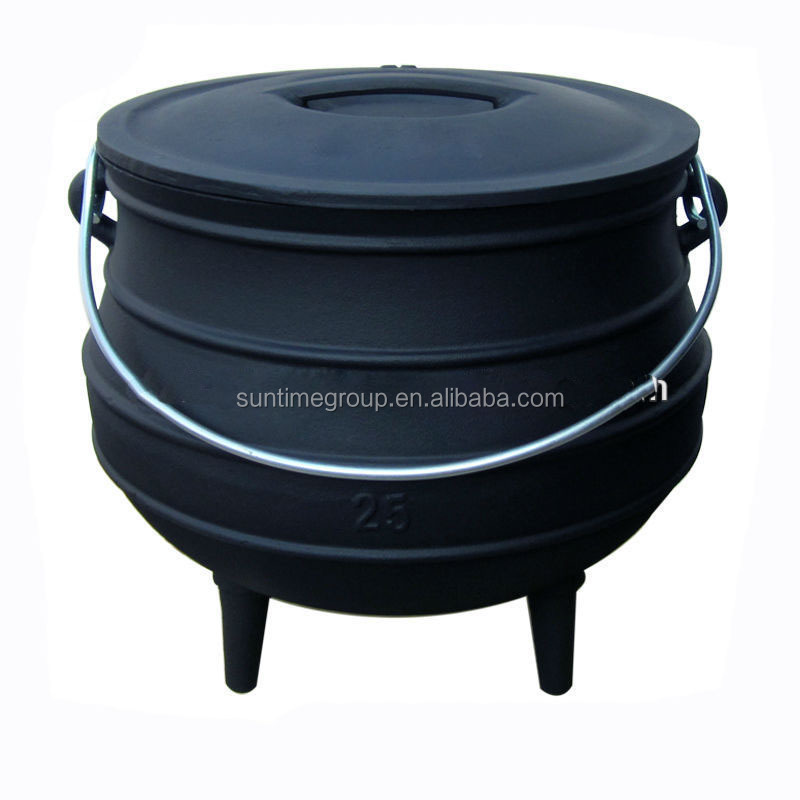 4# Cast Iron Three Legged Potjie Pot for Home Cooking
