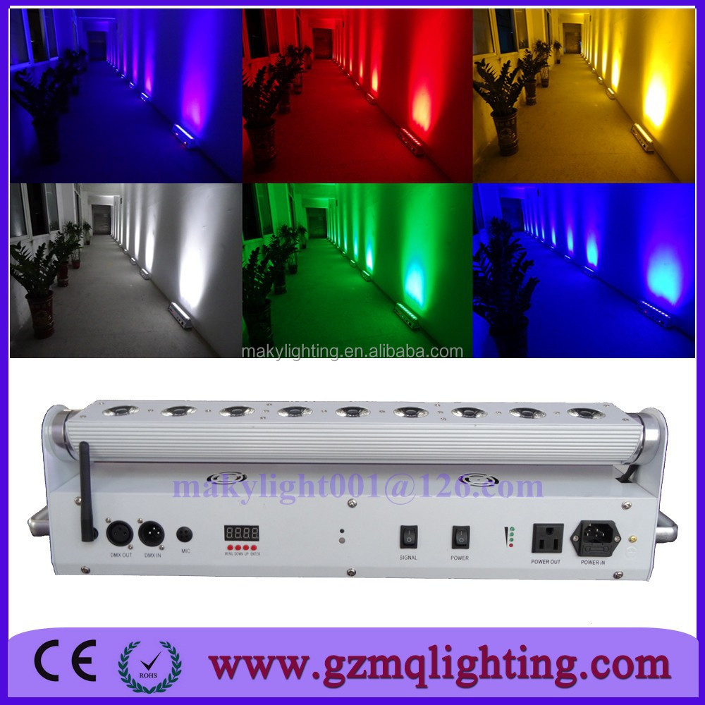 China Wireless Dmx Led Wall Washer/18w Rgbaw Uv 6 In 1 Battery ...