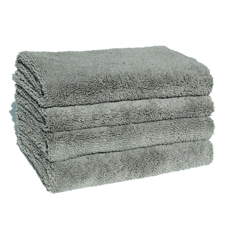 Long lifetime zero edges high density gray <strong>towel</strong> car detail drying <strong>towels</strong>