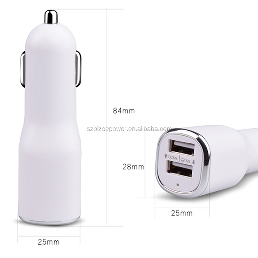 5V 1A/2A Travel Power charger Dual USB 2A Car Charger for SONY Iphone Samsung HTC Backberry