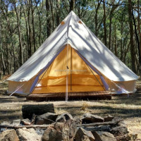 3m 4m 5m 6m 7m Outdoor Camping Cotton Canvas Bell Tent Hire Glamping Hotel Tent