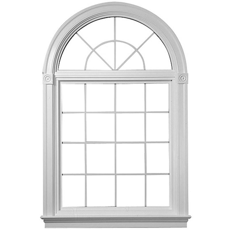 2018 Modern Aluminum Window Top Round Steel Window Grill ...