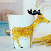Cheap price 3d cartoon animal shaped artistic style espresso ceramic cup