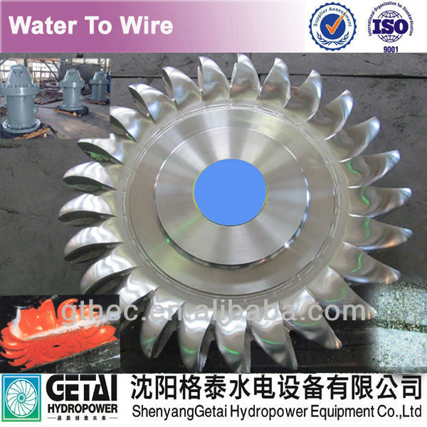 Anti-erosion hydropower pelton wheel water turbine generator made in china from shenyang getai