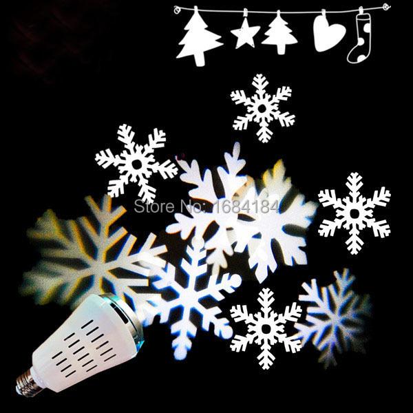 e27 blanc couleurs new led motifs de flocon de neige de no l lumi re dj projecteur flocons de. Black Bedroom Furniture Sets. Home Design Ideas