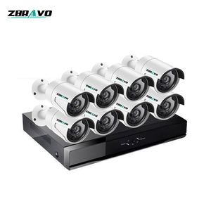 H.265 Cheapest Surveillance System Home Security HD Camera 1080P 8 CH POE NVR Kit