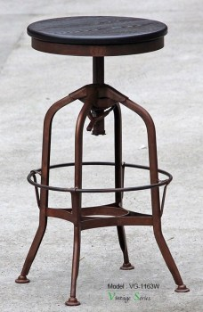 Triumph Wood Round Tuner Stool Antique Toledo Bar StoolMetal Bar Stool