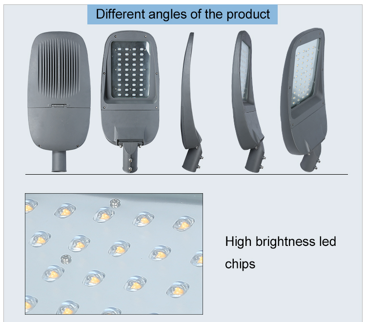 High quality new style energy saving garden lighting ip65 waterproof 30w 50w 100w 150w led streetlight