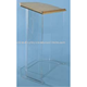 Acrylic Lectern/Acrylic Pulpit with Wood Top and Cross/ acrylic wood pulpits