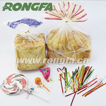 Plastic Metallic Gift / Twist Tie For Bread Bag Closing