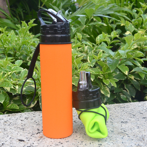 yuan feng private label FDA approved 600ml bpa free sport silicone water bottle
