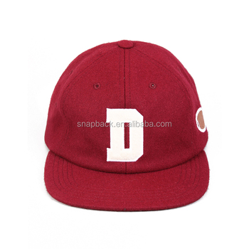 1dbcc785588 Wholesale customized red wool unstructured leather strapback snapback hat