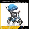 2016 brand new pedal baby tricycle with canopy and 360 degree rotating seat