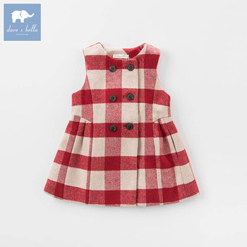 705583fdab1d Dave Bella Baby Girl Children Princess Dress Fashion Plaid ...