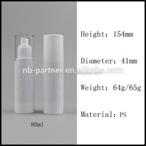 80ml plastic pearl white empty clear overall body fragrance perfume pump sprayer/mist/bottle/jar for women