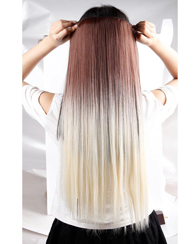 Buy S Noilite 23 25 34 Full Head Clip In Hair Extensions Dip Dye