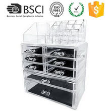 M&E Large Size Beauty Acrylic Makeup Organizer Cosmetics Case For Home Jewelry Storage 2017