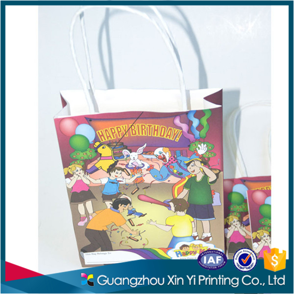 Custom browm/white kraft paper bag printed cheap paper bag have stock no minimum