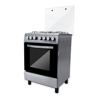 Commercial Heavy Duty Freestanding Stove 4 Burner Gas Cooker With Oven
