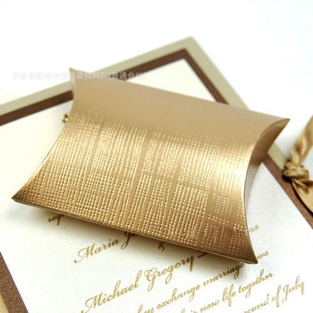 Gold Color Paper Pillow Box