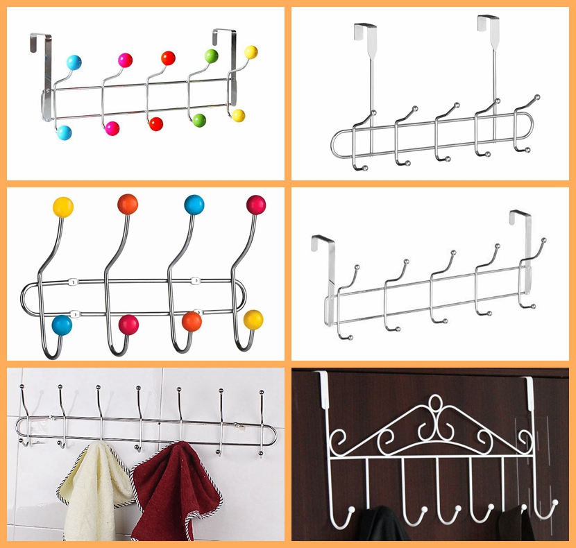Multicolor High Quality Metal Over The Door Hanging Hooks