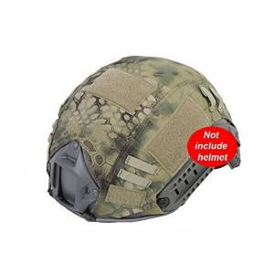 Military Hunting Shooting Gear Combat Fast Helmet PJ BJ Base Jump Camouflage Helmet Cover for Army Tactical Airsoft Paintball, without Helmet, 3 Colors, Highlander, Mandrake, Typhon