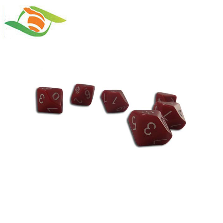 Promotional Gift Item with Logo Custom Dice Set Resin Crafts Dice