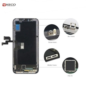 High Quality Soft GX OLED LCD Display Screen for iPhone X, Replacement for iPhone X OLED LCD Display Touch Screen Digitizer