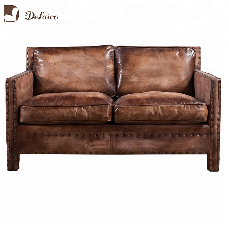 American 100 Topgrainleather 2 Seater Loveseat Sofa Buy