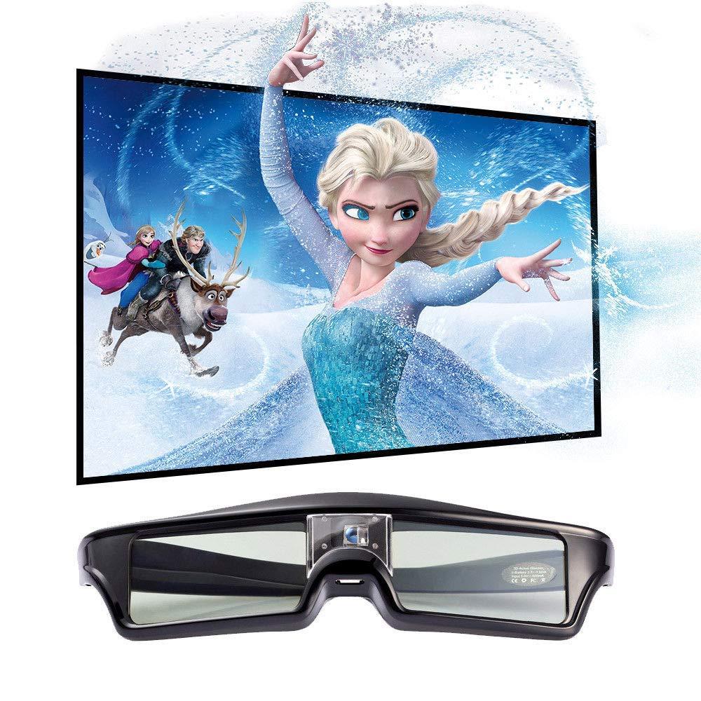 FidgetFidget Projector Universal Rechargeable Active Shutter 3D Glasses DLP-Link DLP 3D