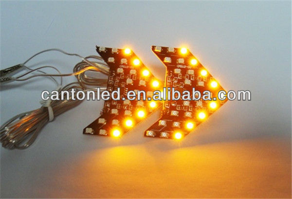 Amber 27 Smd Sequential Led Arrow Car Side Mirror Turn
