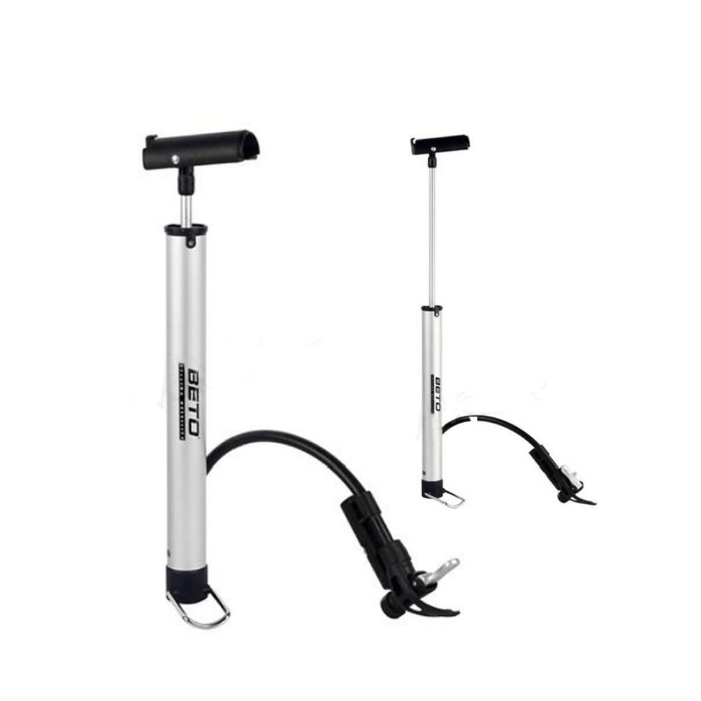 Mini Portable Bike Bicycle Cycling Air Pump Tire Inflator Floor Presta Schrader