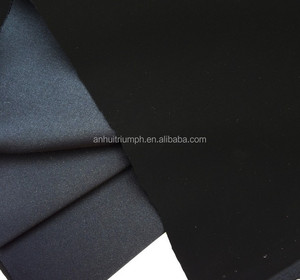 High quality pu nubuck with TC backing or non-woven fabric,without elastic