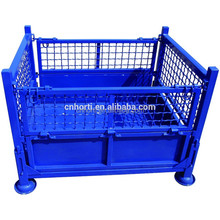 folding steel heavy duty wire container pallet cage