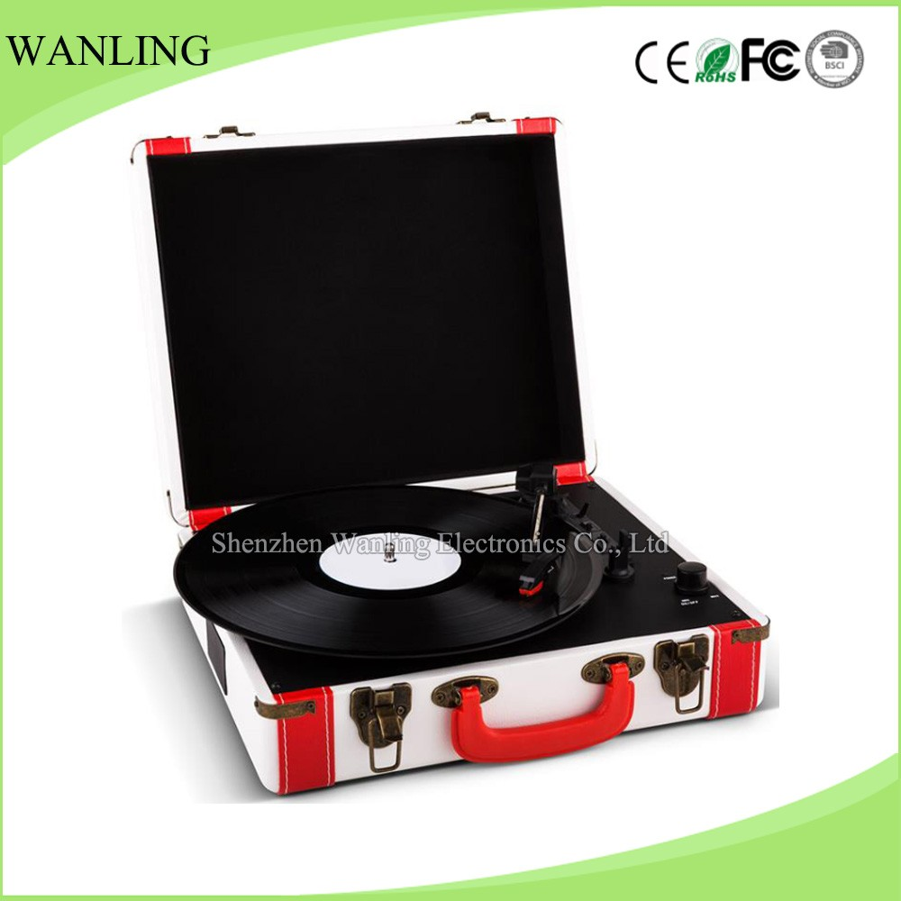 3 Speed Turntable Automatically Stop System LP Vinyl Record Player
