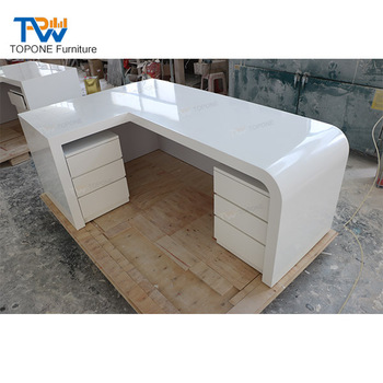 L Shaped White Office Furniture Executive Office Table Design - Buy Office  Counter Table Design,L Shape Office Table,L Shaped Executive Office Table  ...