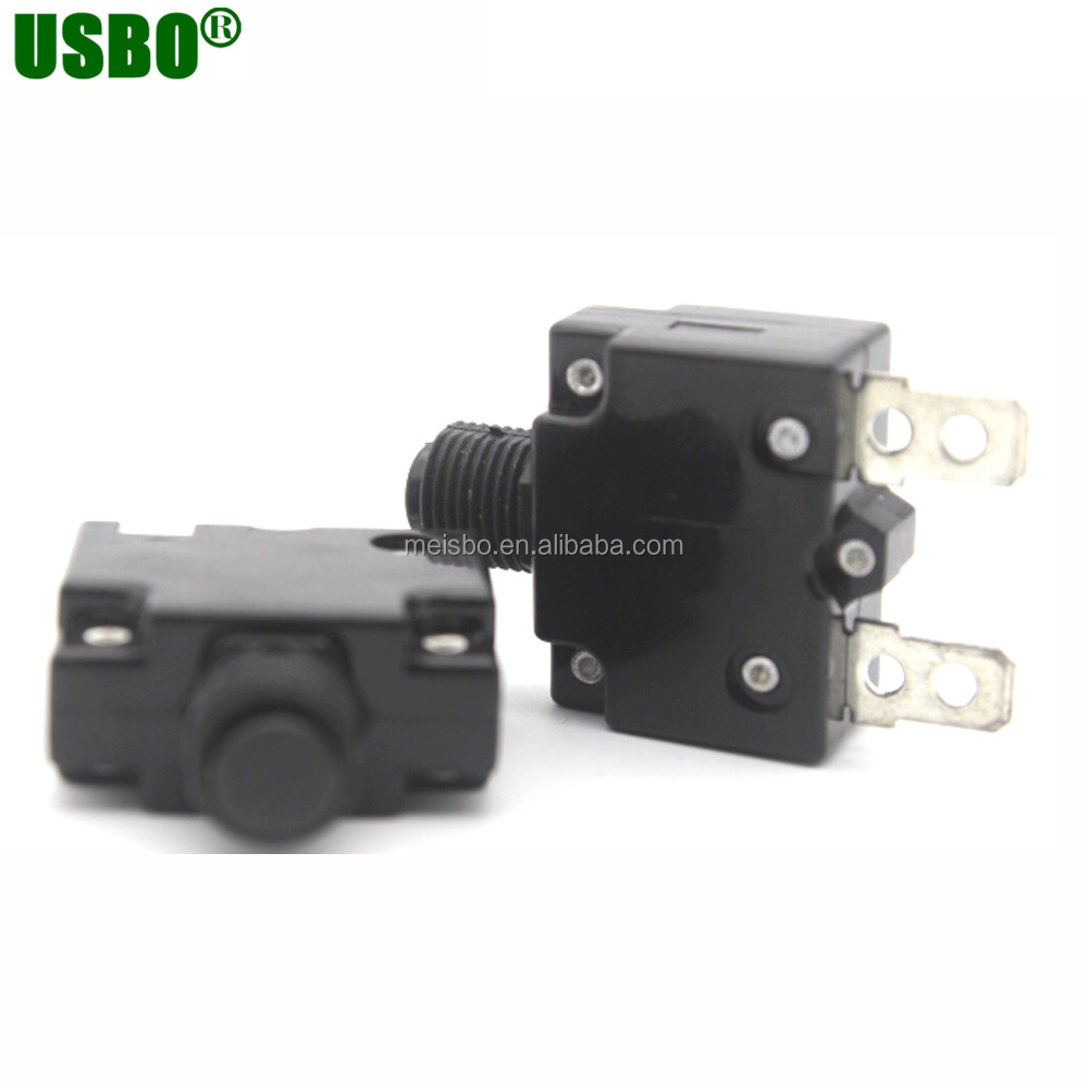 Black 15a 250v Resettable Circuit Breaker For Thermal Overload Protector -  Buy Thermal Overload Protector,15a Circuit Breaker,Resettable Circuit