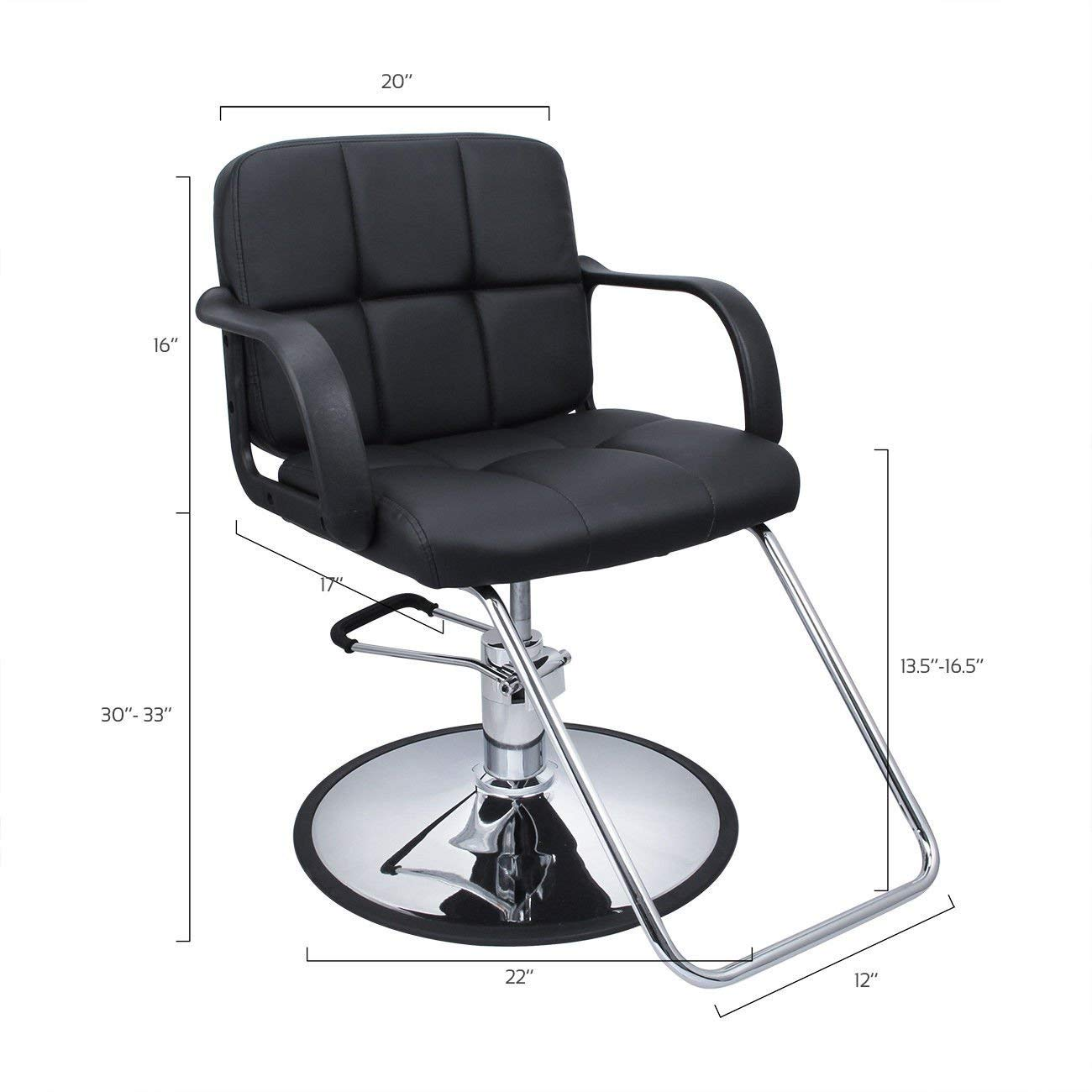 nooshi Cutting Hair Cape w/Hydraulic Barber Chair Salon Beauty Spa Styling Black Seat