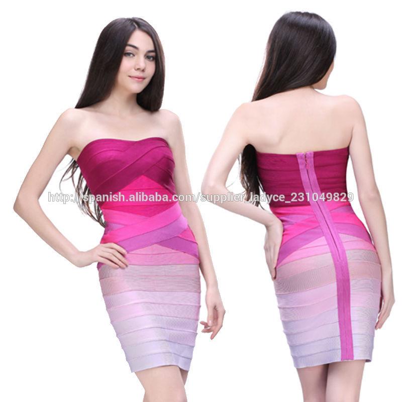 tamaño más sexy ladies uva gradiente corto apretado china vestido de ...