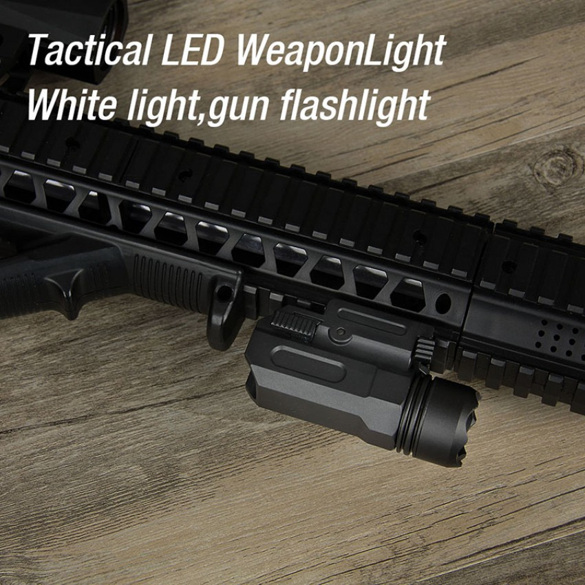 Outdoor tactical flashlight LED utilizzato per 20mm weaver-picatinny ferroviario