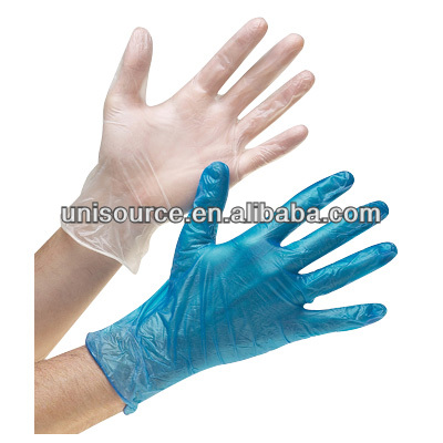 Clear and colored disposable vinyl gloves, vinyl gloves in colors, food or salon use vinyl gloves