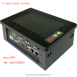 touch screen 7 Inch Fanless Industrial Panel PC With Mini 2*Pcie support Wifi or 3G modem