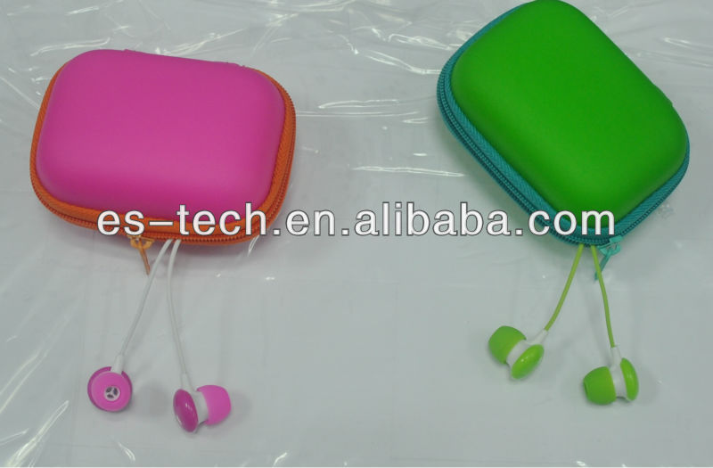 High Quality Colorful Earphone Carrying Case