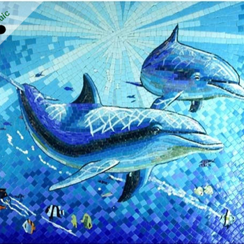 Handmade Murals Decorative Swimming Pool Tile Design Dolphin Mosaic Pattern  Glass Mosaic Tile - Buy Glass Mosaic Tile,Dolphin Mosaic Pattern,Swimming  ...