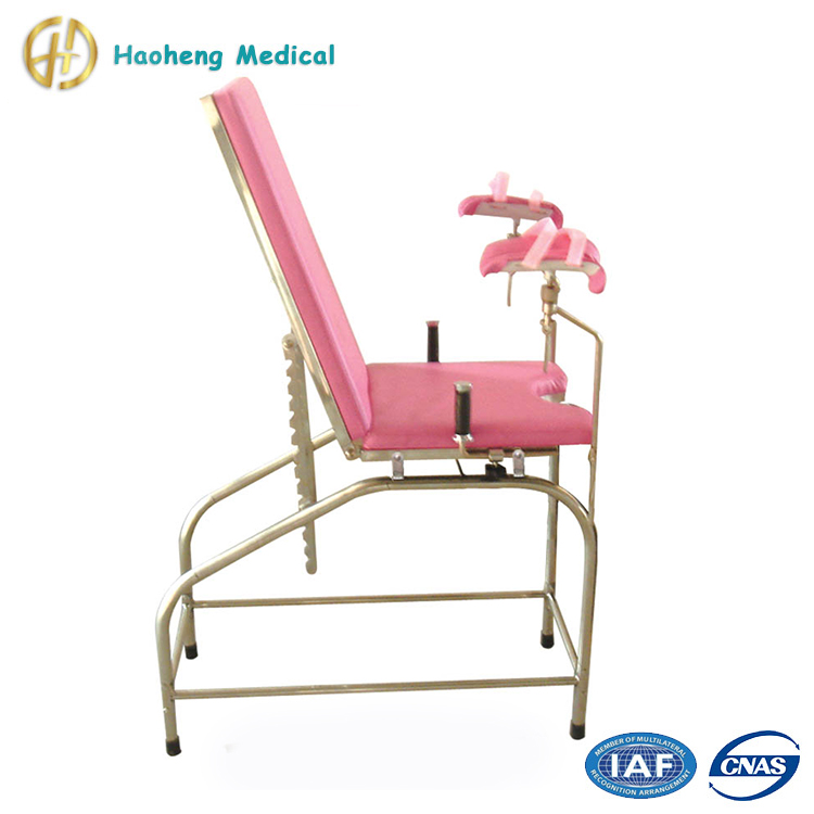 Manual Gynecology Delivery Portable Gynecology Examination Chair