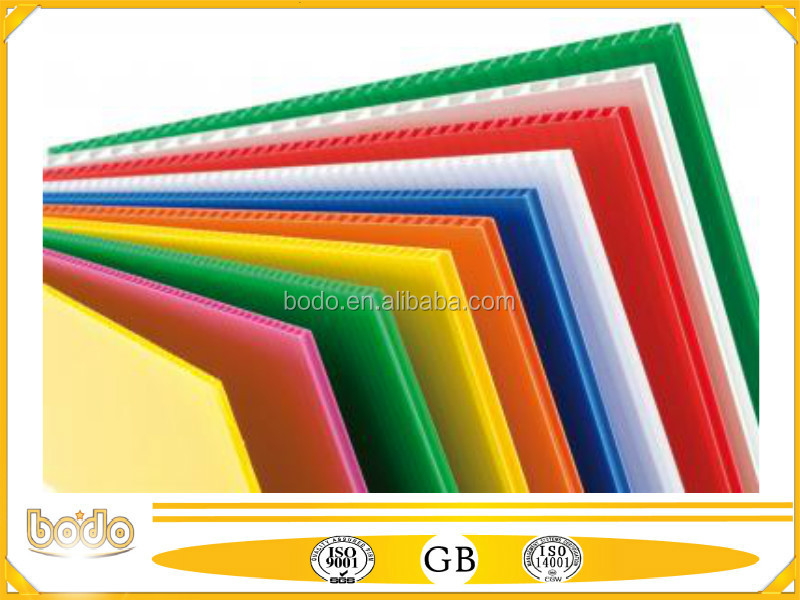 solid pp plastic sheet with recycled nontoxic material used for Auto car decorative board